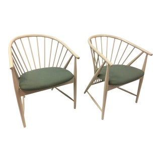 Vintage Mid Century Sonna Rosen Swedish Sun Feather Chairs- A Pair For Sale