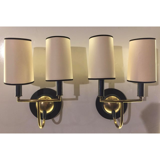 Visual Comfort Bronze & Antiqued Brass Sconces - a Pair - Image 2 of 6