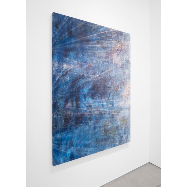 Contemporary Cole Sternberg, 'Rotational Moments Guided by a Sand Bar,' 2018, Mixed Media on Linen, 50 X 70 Inches For Sale - Image 3 of 5