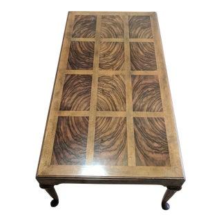 Vintage Baker Inlaid Burl Coffee Table