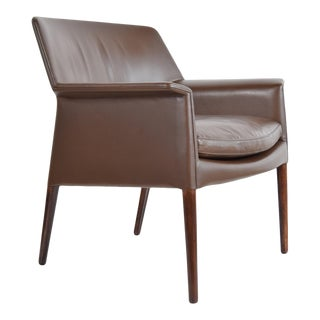 Lounge Chair in Leather and Rosewood by Larsen and Madsen For Sale