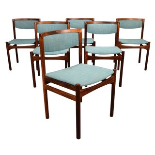 1960s Danish Modern Rosewood Dining Chairs - Set of 6 For Sale