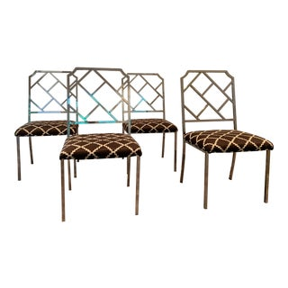 Milo Baughman for Dia Chrome Chippendale Dining Chairs - Set of 4 For Sale