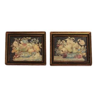 17th Century Tempera on Velum Still Life Paintings by Octavianus Monfort - a Pair For Sale