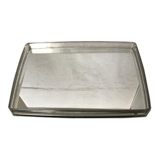 1980s Mirrored Lucite Vanity Tray For Sale