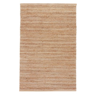 Jaipur Living Canterbury Natural Solid Tan/ White Area Rug - 5′ × 8′ For Sale