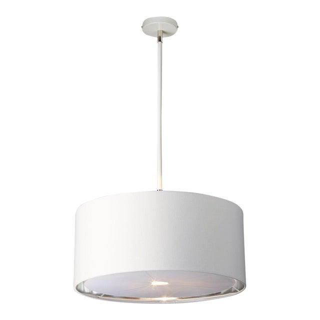 Balance White/Polished Nickel Pendant or Semi Flush For Sale