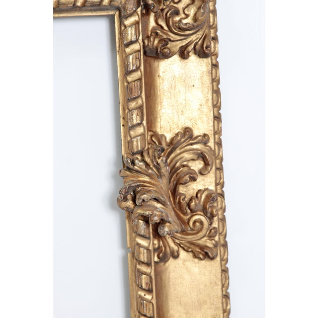 Rare 17th Century Giltwood Italian Picture Frame For Sale - Image 4 of 11