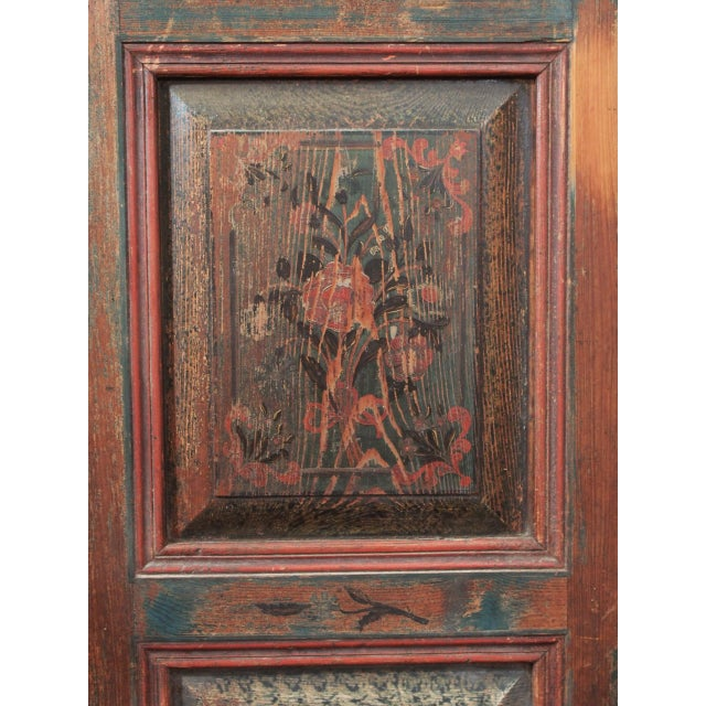 Red A PAINTED EUROPEAN ARMOIRE For Sale - Image 8 of 11