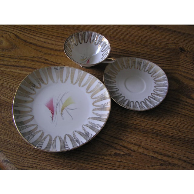 Cottage Mid-Century Coffee Cups & Plates - 12 Pieces For Sale - Image 3 of 12