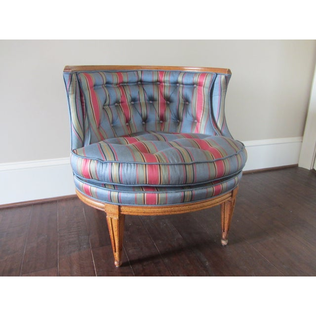 Mid-Century Modern Blue Tub Chair - Image 4 of 6