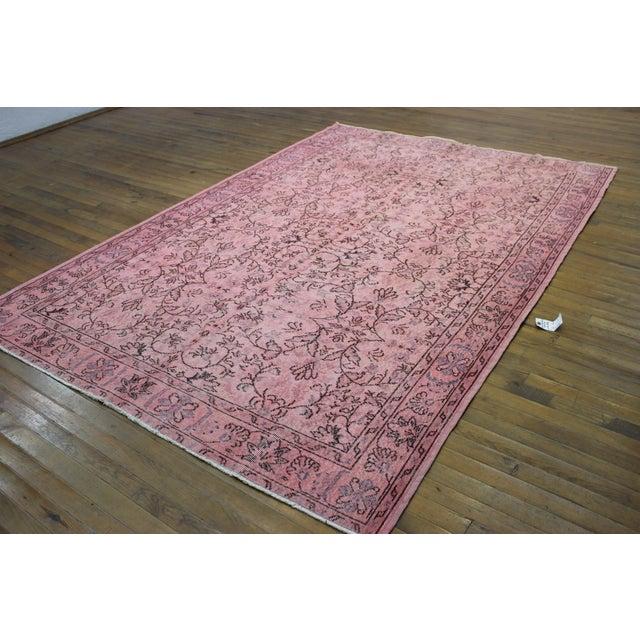 Pink Overdyed Oushak Rug - 6′2″ × 9′1″ - Image 4 of 7