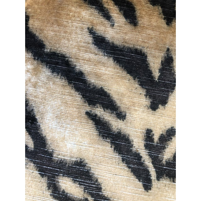 Boho Chic Tiger Print Arm Chair For Sale - Image 3 of 5