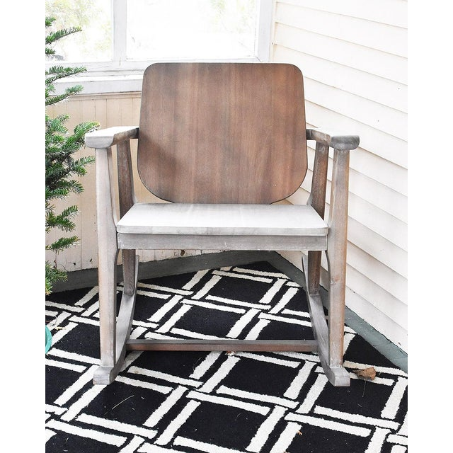 Modern Gray Wooden Rocking Chair For Sale In Dallas - Image 6 of 10