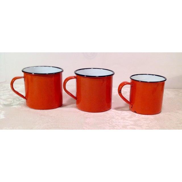 Vintage Enamel Ware Cups- Set of 6 - Image 9 of 11
