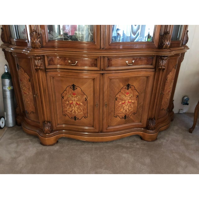 This beautiful Golden Walnut Hutch stand tall. It has draws and shelves for storage or to show you dinnerware. It has a...