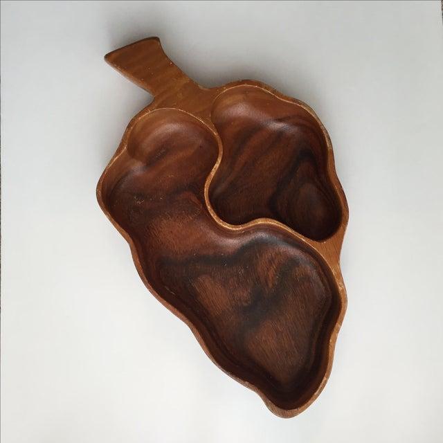 Wood Leaf Chip & Dip Bowl - Image 10 of 11