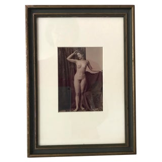 Late 19th Century Vintage French Nude Photograph For Sale