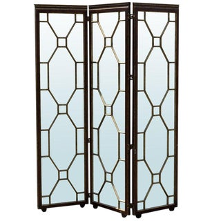 1980s Vintage Hollywood Regency Style Mirrored Screen For Sale