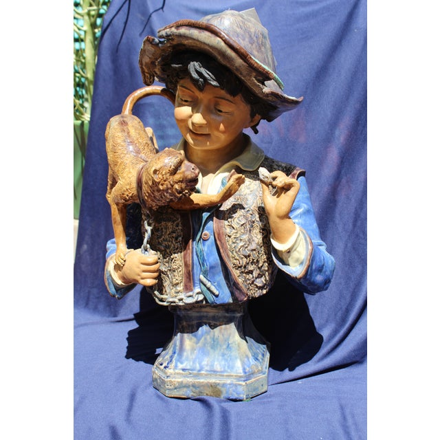 Late 19th C. Bruders Urbach Earthenware Sculpture For Sale In San Diego - Image 6 of 12