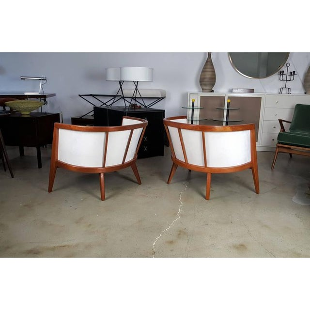 Sculptural Mahogany Lounge Chairs - A Pair - Image 4 of 6