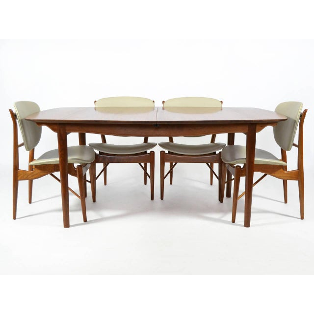 1950s Finn Juhl Dining Table and Chairs For Sale - Image 5 of 11