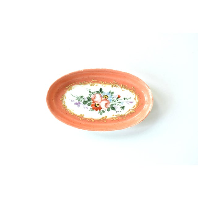 Antique Limoges Hand-Painted Oval Trinket Dish For Sale In San Francisco - Image 6 of 7
