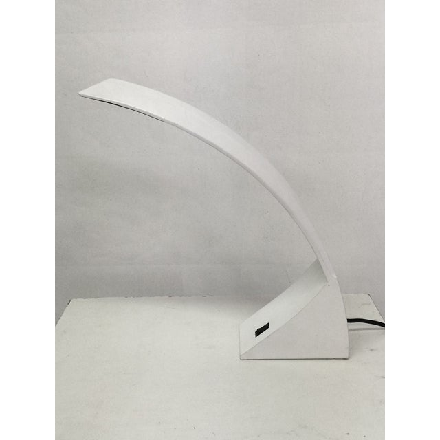 1970s White Lacquer Desk Lamp For Sale - Image 4 of 6
