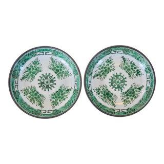 Encased Porcelain Bowls - a Pair