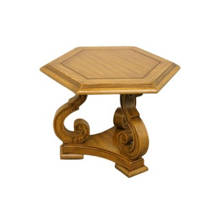 Columbia Manufacturing Co. Italian Neoclassical Hexagonal Lamp / Accent Table For Sale