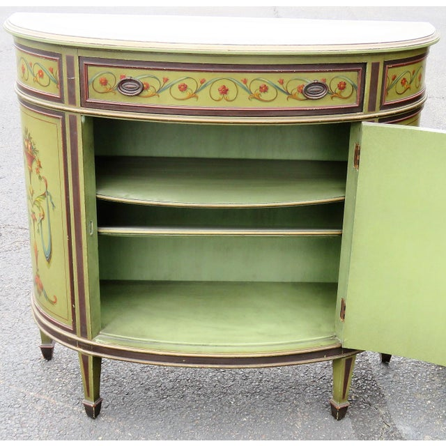 Adams Style Paint Decorated Commodes - A Pair For Sale - Image 5 of 9