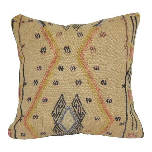 "Striped Turkish Kilim Pillow 16"" X 16'' For Sale"