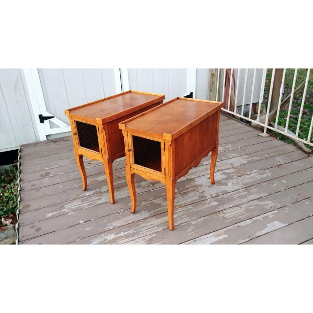 1980s French Walnut End Tables - a Pair For Sale - Image 13 of 13