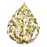 Image of 1950s Vintage Pear Shaped Italian Chandelier For Sale