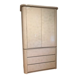 White Contemporary Armoire For Sale