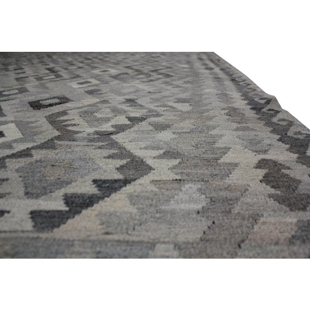 "Aara Rugs Inc. Hand Knotted Modern Kilim Rug - 6'11"" x 9'10"" For Sale - Image 5 of 6"