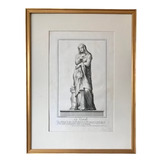 Antique Italian Engraving Le Vestal by Domenico De Rossi in 1704 For Sale