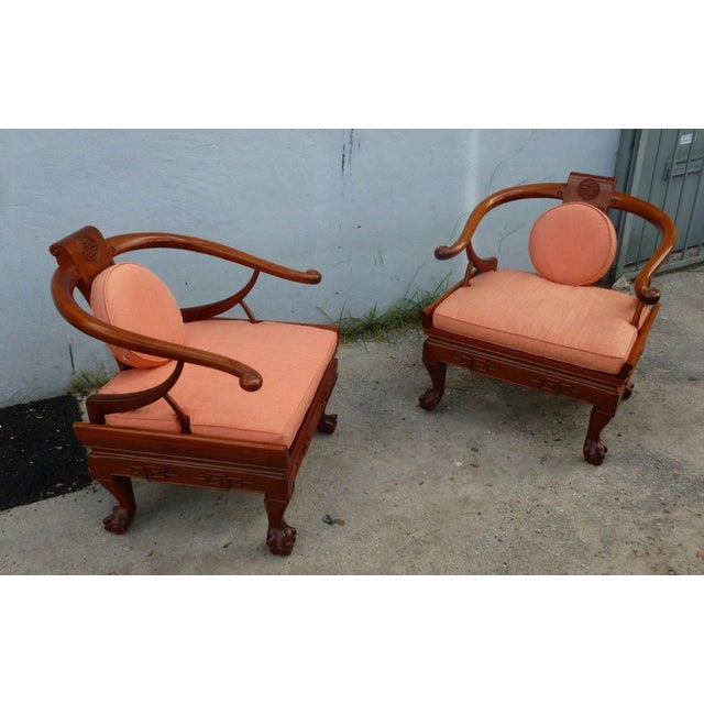 Asian 1960s Ming Arm Chairs - a Pair For Sale - Image 3 of 10