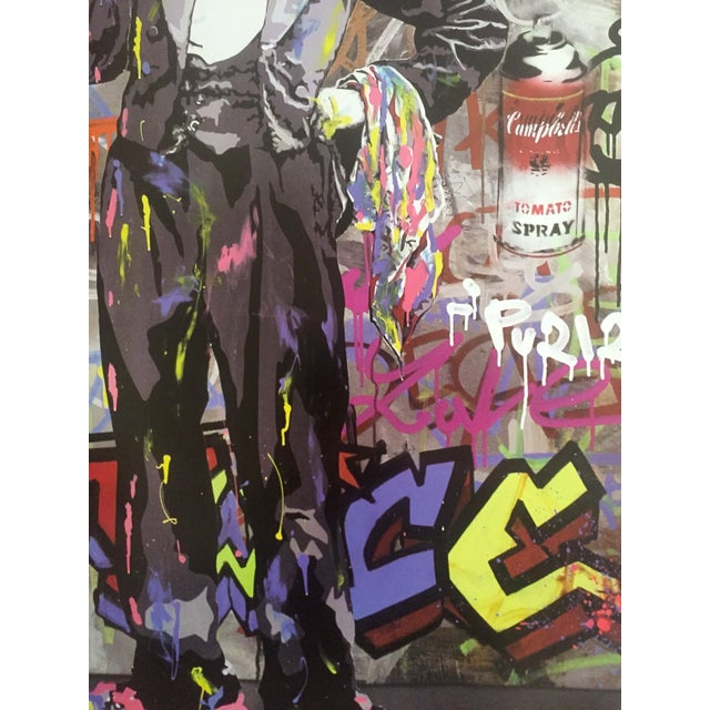 "Mr. Brainwash "" Charlie Chaplin "" Original Lithograph Print Pop Art Poster For Sale - Image 9 of 11"