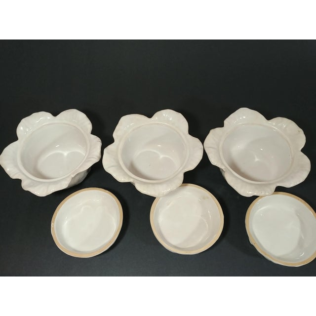 Mid-Century Italian Ceramic Cabbage Bowls - Set of 3 For Sale - Image 4 of 9