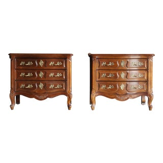 1980s French Provincial Henredon Nightstands - a Pair For Sale