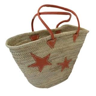 Orange Star Motif Market Basket
