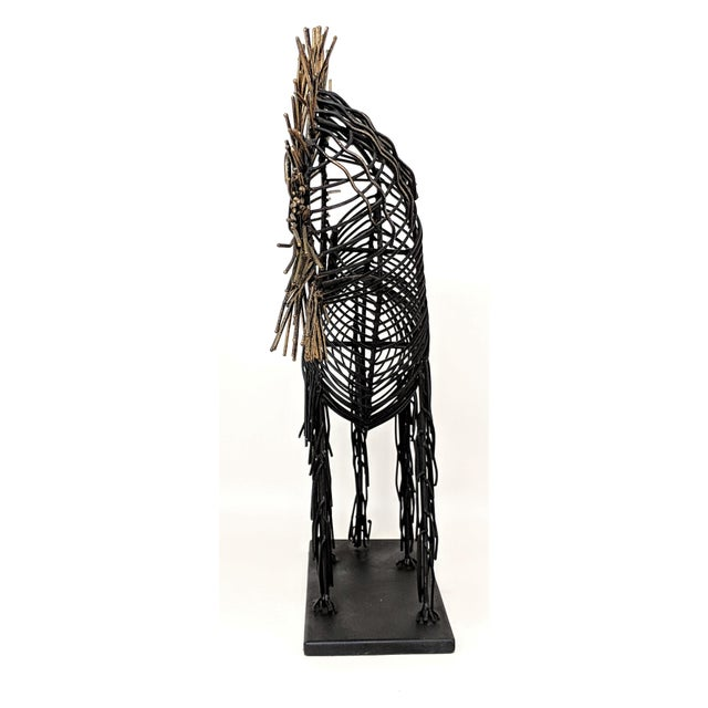 Curtis Jere Vintage Lion Wire Sculpture For Sale - Image 4 of 11