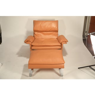 1970s Vintage Giovanni Offredi for Saporiti Lounge Chair and Ottoman Preview