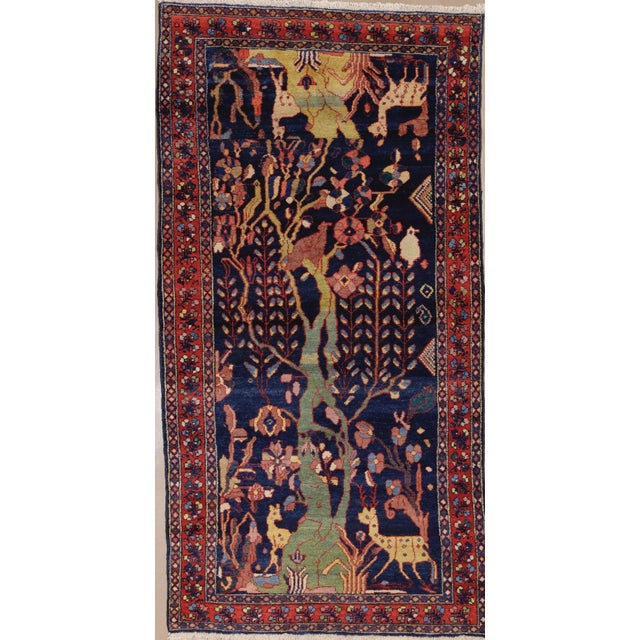 """Antique Persian Lillihan Tree of Life Rug, 4'3"""" X 8'2"""" For Sale - Image 10 of 10"""