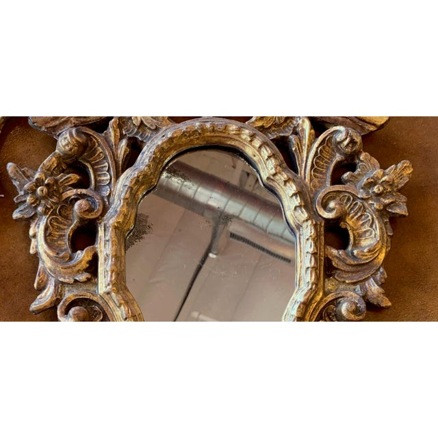 20th Century Italian Rococo Accent Mirrors - a Pair For Sale - Image 10 of 13