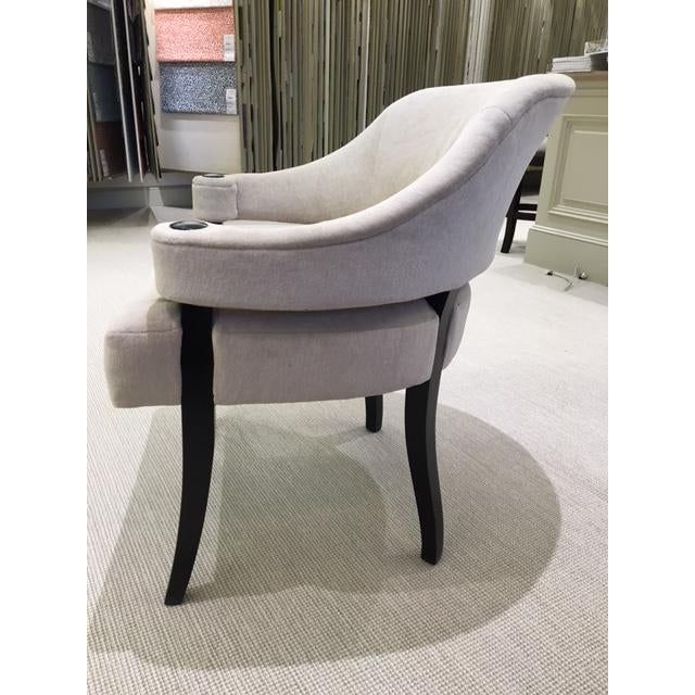 Traditional White Upholstered Dining Chair For Sale - Image 3 of 4