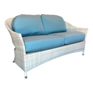 David Francis Woven Outdoor Loveseat For Sale