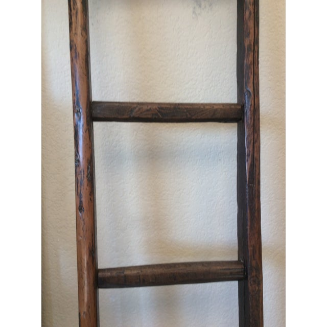 Tall Wooden Asian Ladder For Sale - Image 4 of 6