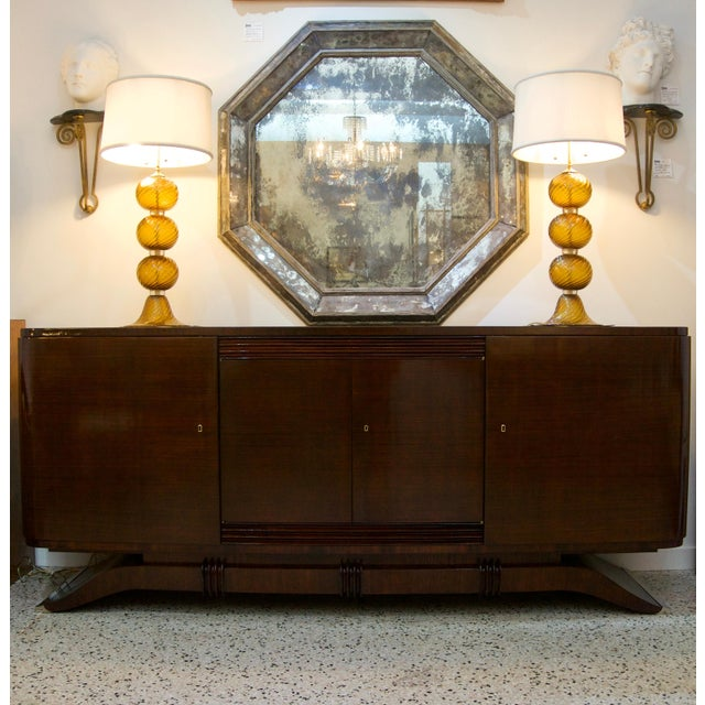 SALE -- was $15,000. This stylish, chic and monumental scaled French Art Deco buffet was acquired from a Palm Beach estate...